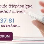 Durant l'été, la ligne d'écoute téléphonique et le forum des parents restent ouverts.