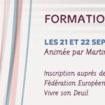 Formation au deuil périnatal les 21 et 22 septembre à Paris. Animée par Martine Piton et Isabelle de Mézerac