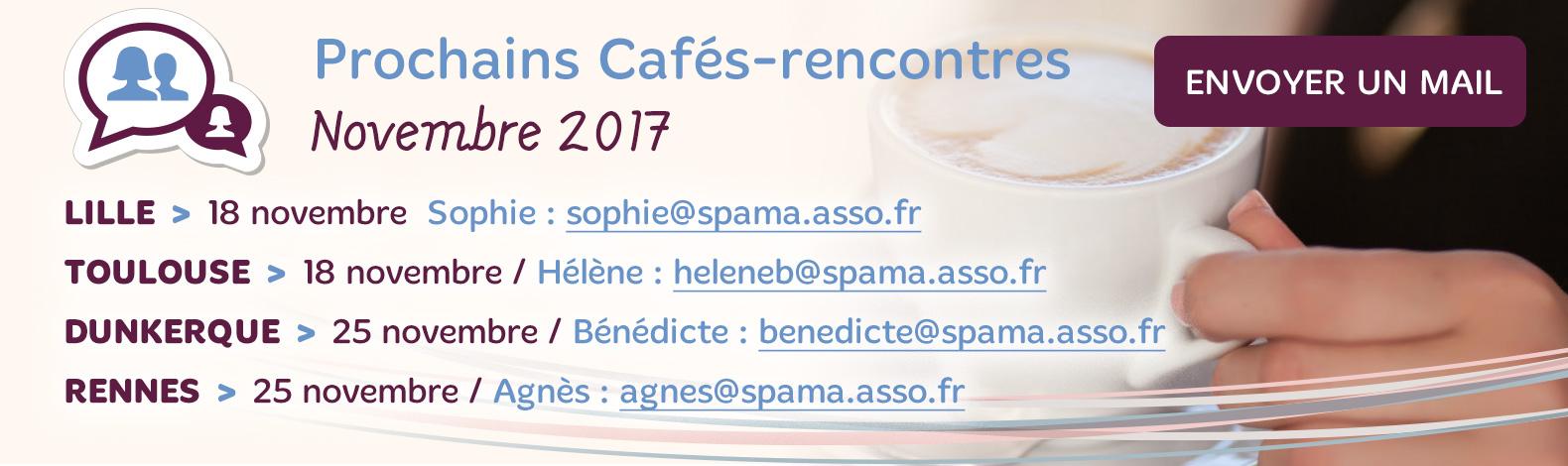 Les Cafés-Rencontres de novembre 2017