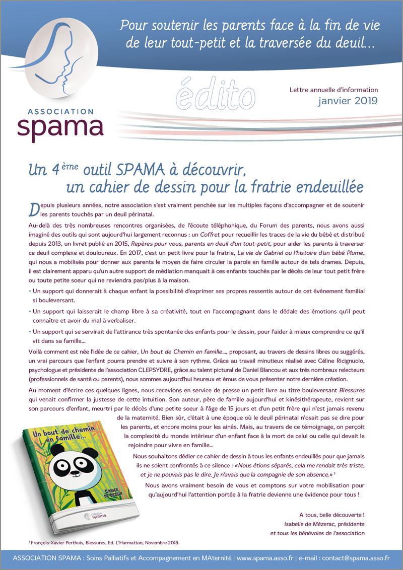 La lettre d'information annuelle - Association SPAMA