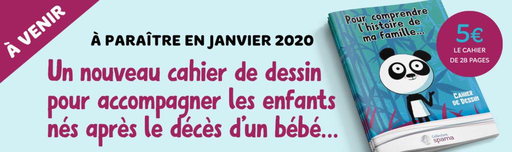 Un nouveau cahier de dessin pour accompagner les enfants nés après le décès d'un bébé...