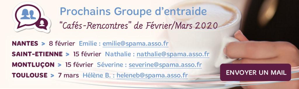Groupe d'entraide Cafés-Rencontres Spama de Février et Mars 2020